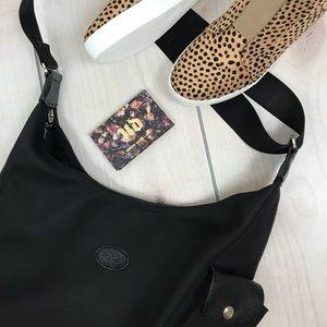 Black LONGCHAMP Canvas  Crossbody Handbag